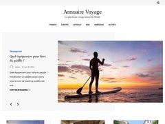 Aperçu du site Annuaire-voyage.info