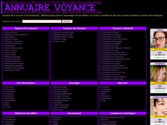 Aperçu du site Annuairevoyance.net
