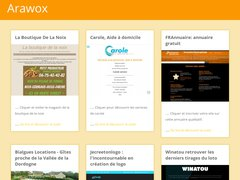 Aperçu du site Arawox.fr