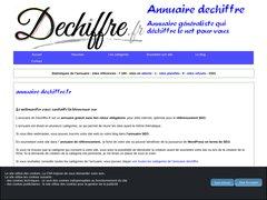 Aperçu du site Dechiffre.fr