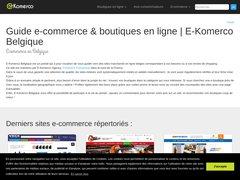 Aperçu du site E-komerco.be