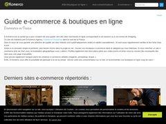 Aperçu du site E-komerco.fr