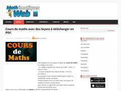 Mathématiques Web