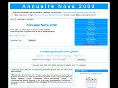 Aperçu du site Nova-2000.fr