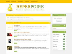 Aperçu du site Reperpoire.com