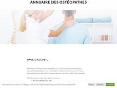 L'annuaire des ostéopathes