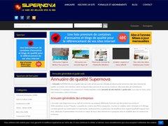 Aperçu du site Supernova-annuaire.fr