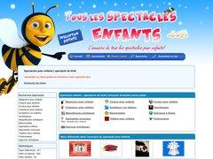Aperçu du site Touslesspectacles-enfants.com