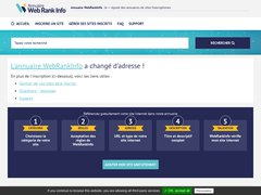 Aperçu du site Webrankinfo.com