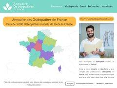 Annuaire Osteopathe France