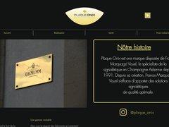 Détails : Plaque Onix - Spécialiste de la Plaque Professionnelle