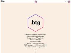 le site de l'agence btg communication