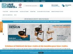 Détails : lave mains wc, meuble tendance