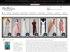 Détails : Vente en ligne de robe de soirée courte bustier