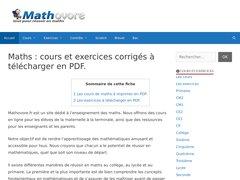 Détails : Mathovore