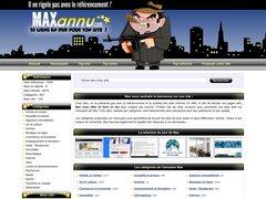 Maxannu est un annuaire gratuit avec un maximum de liens en dur !
