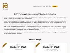 ON7FU - Ferrite Applications
