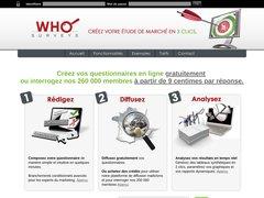 Détails : WHOsurveys.com : Comment faire une étude de marché online en quelques clics