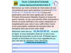 Taxi conventionné paris et toute l'Ile-de-France, avec le tiers payant aucun avance de frais prise en charge à 100/100