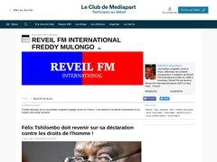 Blogs Mediapart Freddy Mulongo