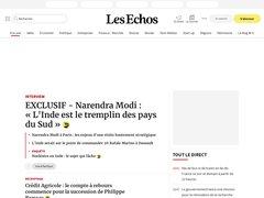 actualité du marché de l'immobilier sur lesechos.fr