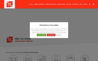 Site internet de Aisne Beautor Carrelage réalisé par SITTI