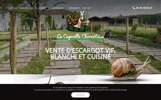 Site internet de la Cagouille Charentaire réalisé par SITTI