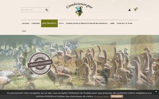 Site internet de La Ferme de Combetenergue réalisé par SITTI