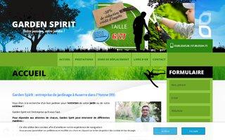 Site internet de Garden Spirit réalisé par SITTI