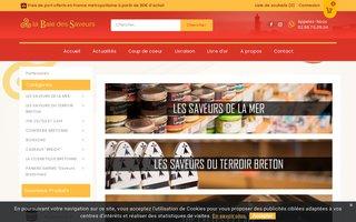 Site internet de La Baie des Saveurs