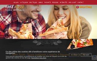 Site internet de Mama Pizza réalisé par SITTI