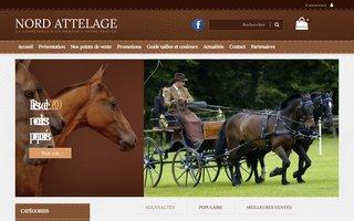 Site internet de Nord Attelage réalisé par SITTI