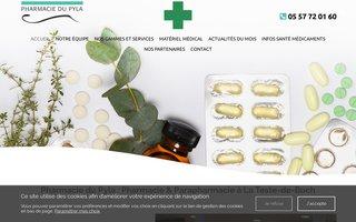 Site internet de la Pharmacie du Pyla réalisé par SITTI