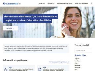 Détails : AideFamille : Contactez les 1400 agences CAF de France