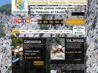 Détails : Canyoning rafting Pyrénées Orientales et Aude