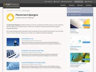 Détails : K&P Epargne, assurance-vie