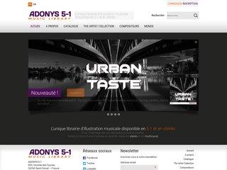 La banque de musique en ligne : Adonys 5-1