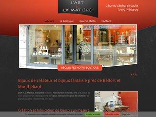 Détails : L'Art et la Matière, création et vente de bijoux en argent près de Belfort