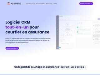 Détails : Assur3d : logiciel de gestion pour les cabinets de courtage d'assurance