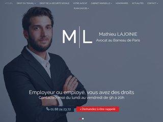 Avocat droit du travail, de la sécurité sociale Paris - Cabinet Lajoinie