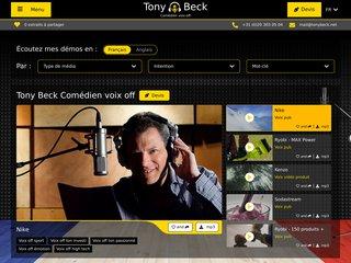 Détails : Tony Beck, comédien spécialisé en voix off