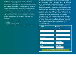 Détails : Comparateur d'assurance santé