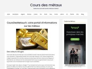 Détails : Tous les cours des métaux à la bourse