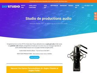 Détails : Studio pub radio: message publicitaire, jingle, liner, voix off