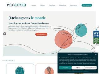 Détails : ECONOVIA : Agence de communication responsable et solidaire à Paris.