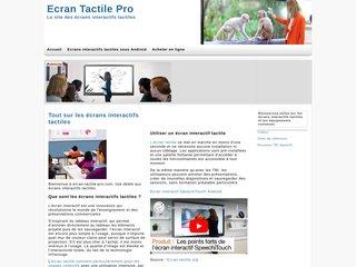 Détails : Écran Tactile Pro - Écran Tactile et Point de Vente