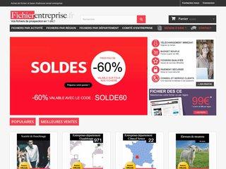 Détails : Achat de fichier d'entreprise