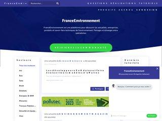 FranceEnvironnement - Plateforme spécialisée