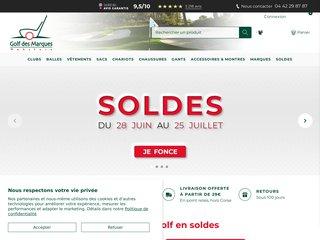 Détails : Achat de matériel de golf - Golf des marques
