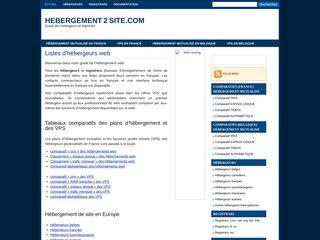 Détails : Hébergement de sites Web